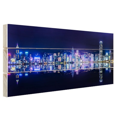 Hong Kong skyline muurdecoratie