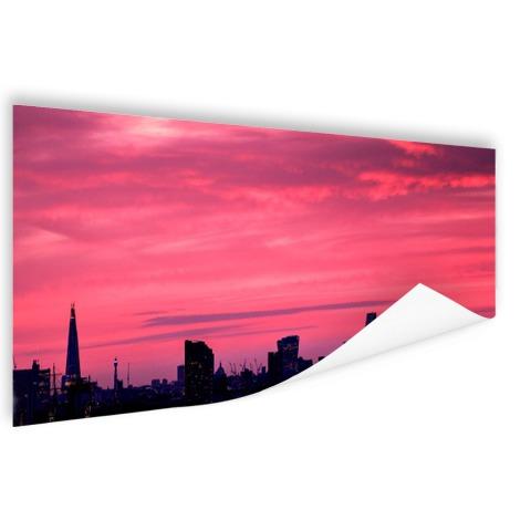 Londen skyline bij zonsondergang muurdecoratie