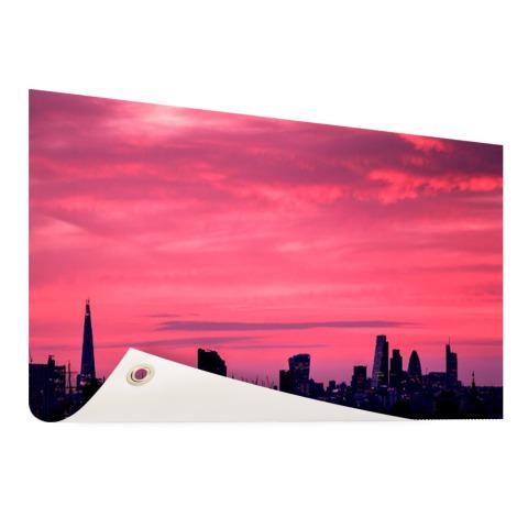 Londen skyline bij zonsondergang tuindecoratie