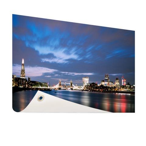 Londen skyline in de avond tuindecoratie