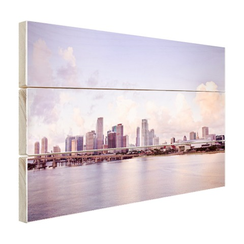 Miami skyline muurdecoratie