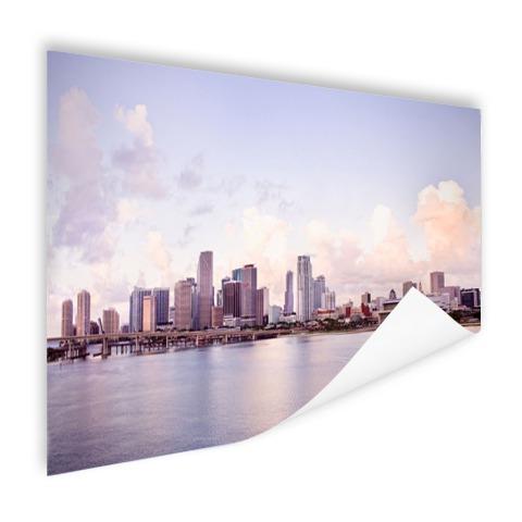 Miami skyline muurdecoratie
