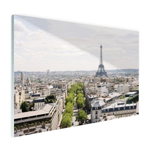 Parijs skyline muurdecoratie