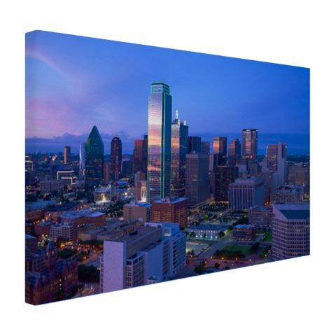 Skyline van Dallas wanddecoratie