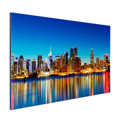 Skyline New York by night wanddecoratie