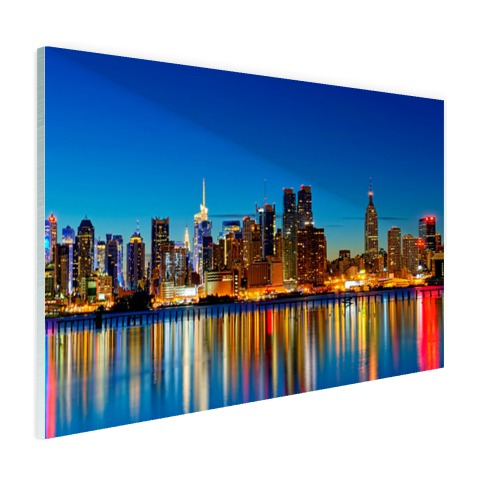Skyline new York by night wandddecoratie