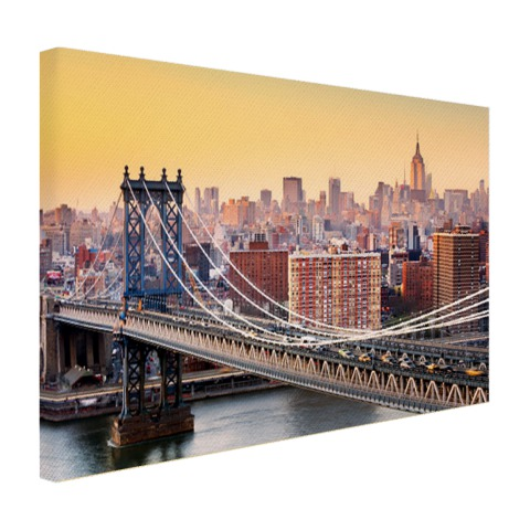 Skyline New York in de avond foto print