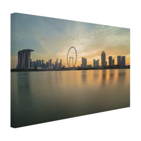 Skyline Singapore muurdecoratie