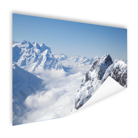 Berglandschap in de winter Poster