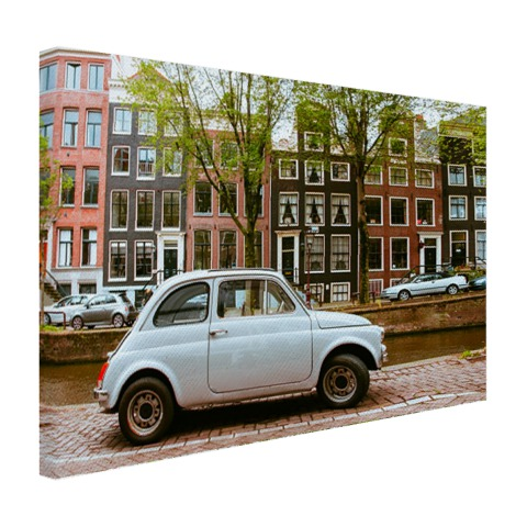 Oude auto in Amsterdam wanddecoratie