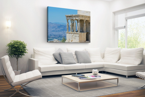 Close-up van de Akropolis Canvas