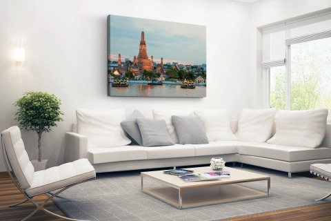 Wat Arun en water Bangkok Canvas