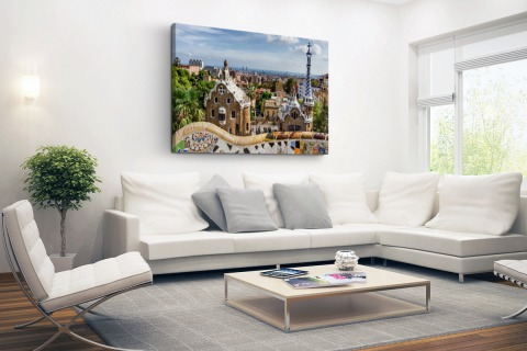 Parc Guell in Barcelona Canvas