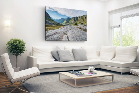 Noors berglandschap Canvas