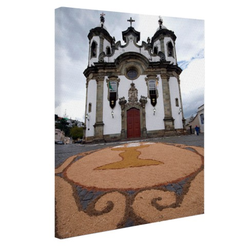 Kerk Brazilie fotoprint Canvas