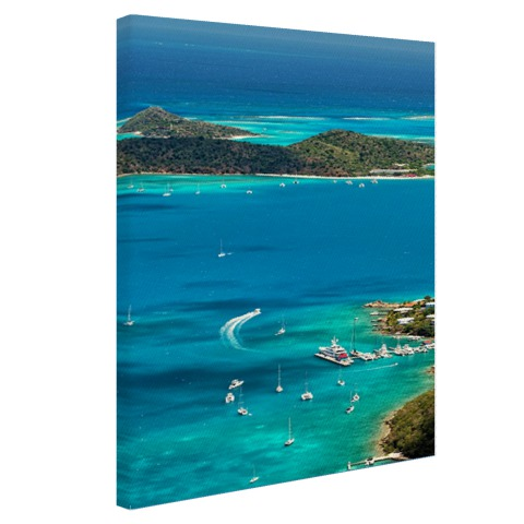 Caribische haven Canvas