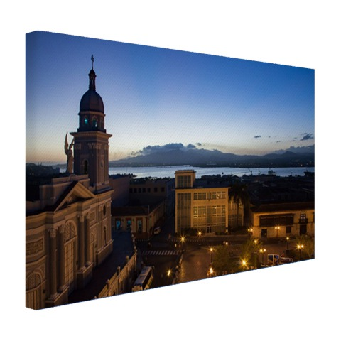 Havana in de avond fotoprint Canvas