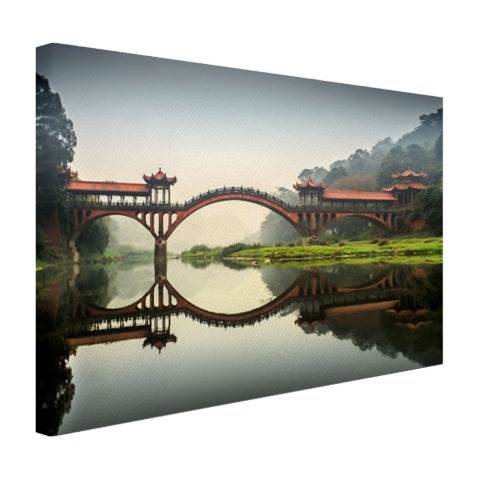 Chinese brug Canvas