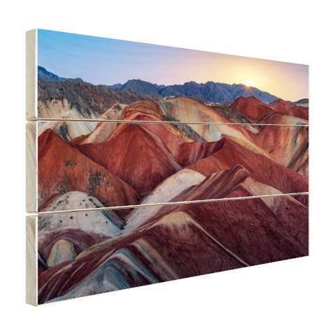 Danxia landschap China Hout