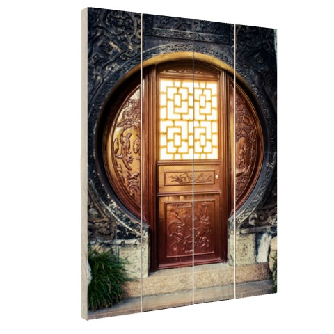 Traditionele Chinese deur fotoprint Hout