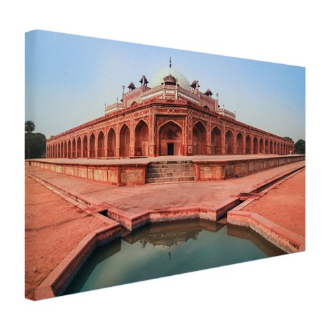 Foto Humayun's tombe Delhi op canvas geprint