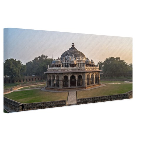 Foto print Isa Khan's tombe op canvas