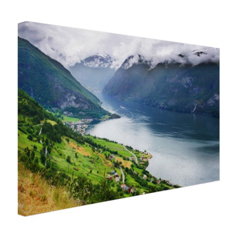 Foto op canvas Aurlands Fjord Noorwegen
