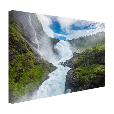 Canvas foto Kjosfossen waterval