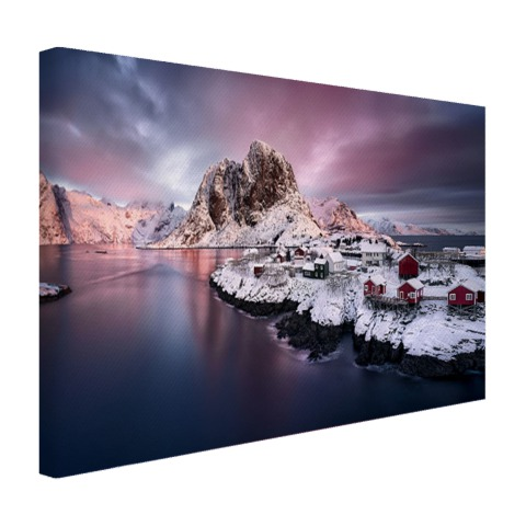 Canvas fotoprint Lofoten Noorwegen