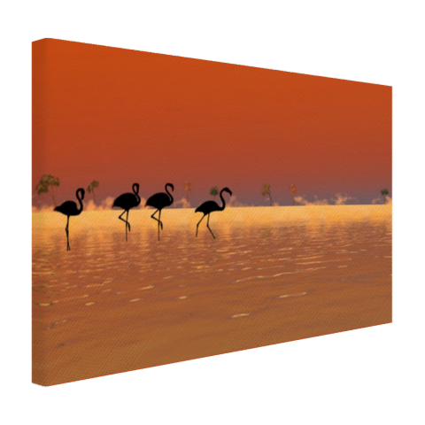 Flamingos silhouet Canvas