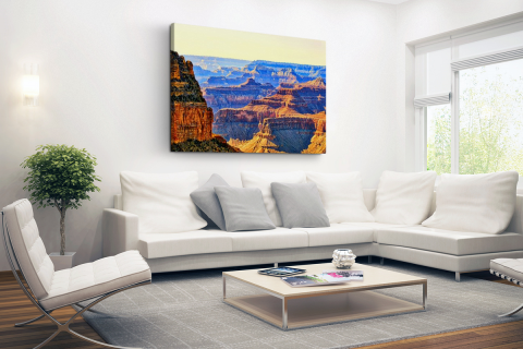 Uitzicht over Grand Canyon Canvas