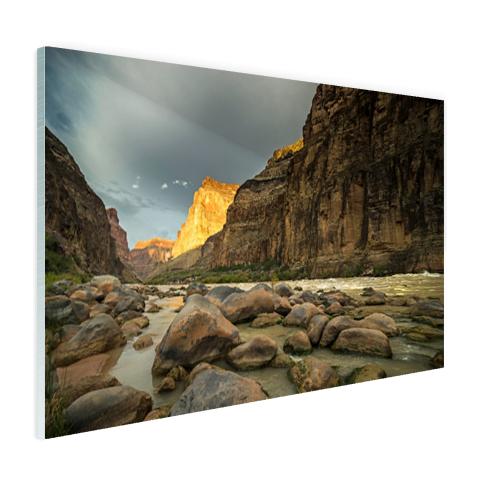 Colorado River Grand Canyon glas foto print