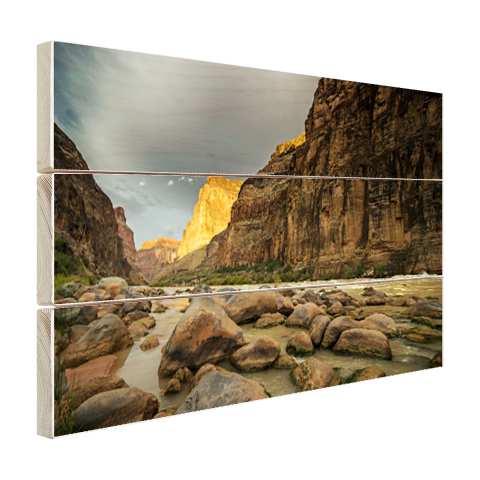 Hout print Colorado River Grand Canyon
