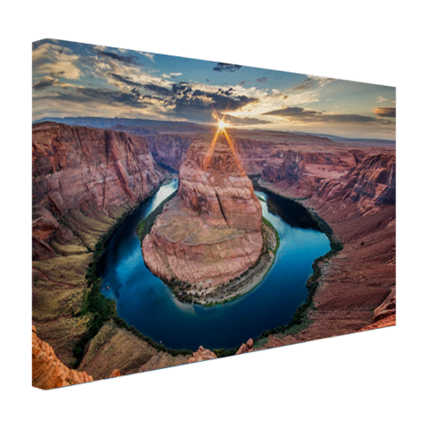 Horseshoe bend Grand Canyon op canvas