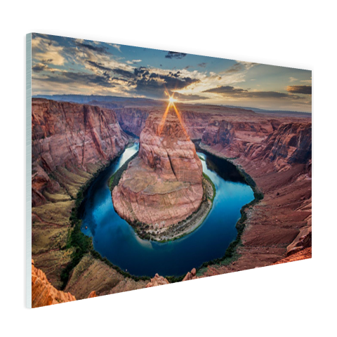 Glasplaat fotoprint Grand Canyon Horseshoe Bend
