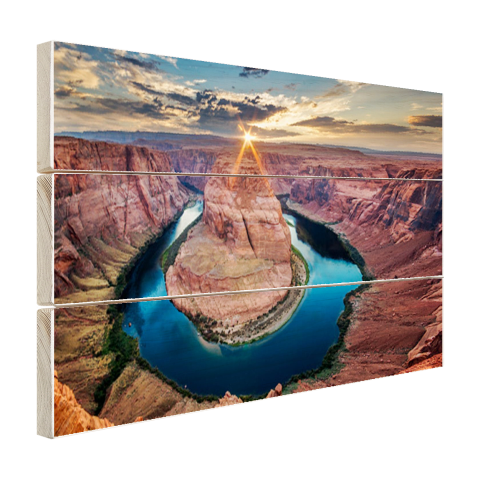 Hout fotoprint Horseshoe Bend Grand Canyon