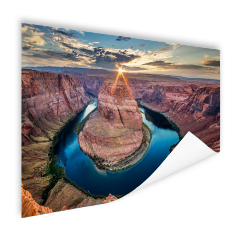 Poster fotoprint Horseshoe Bend Grand Canyon
