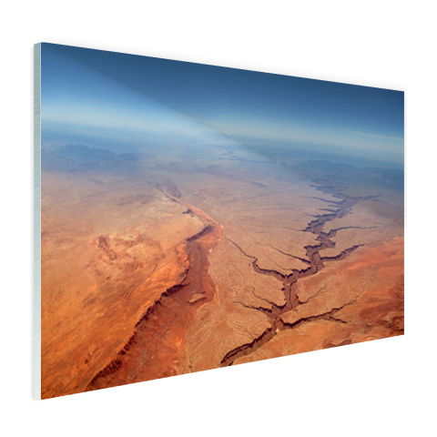 Rode Grand Canyon luchtfoto canvas