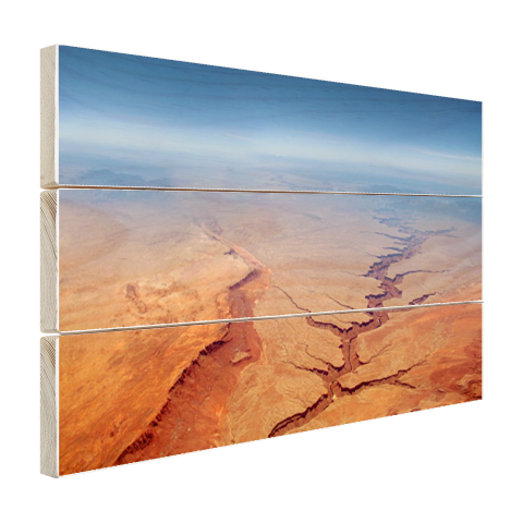 Grand Canyon hout Luchtfoto print