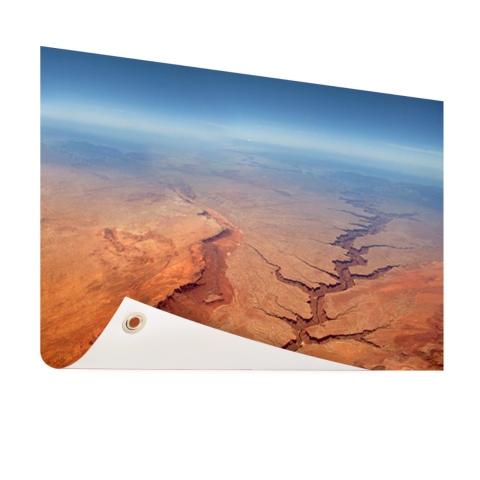 Grand Canyon luchtfoto op Tuinposter