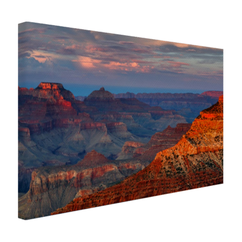 Zonsondergang Mather Point Grand Canyon op canvas