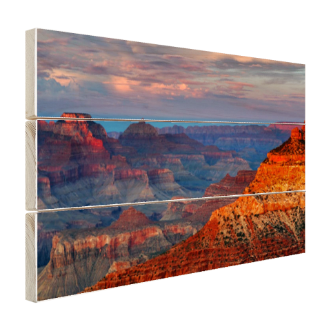 Mather Point Grand Canyon Hout tijdens zonsondergang