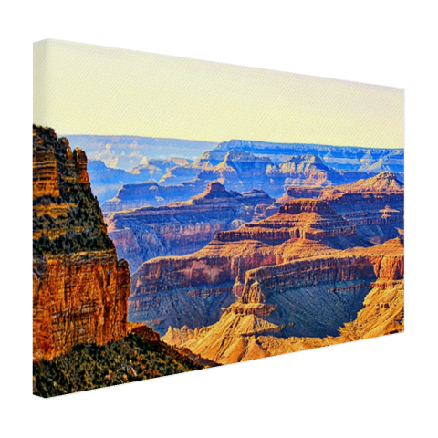 Uitzicht over de Grand Canyon op canvas