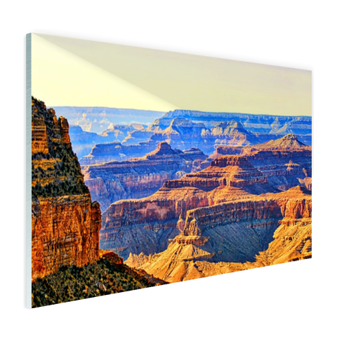 Glasplaat foto print uitzicht over Grand Canyon