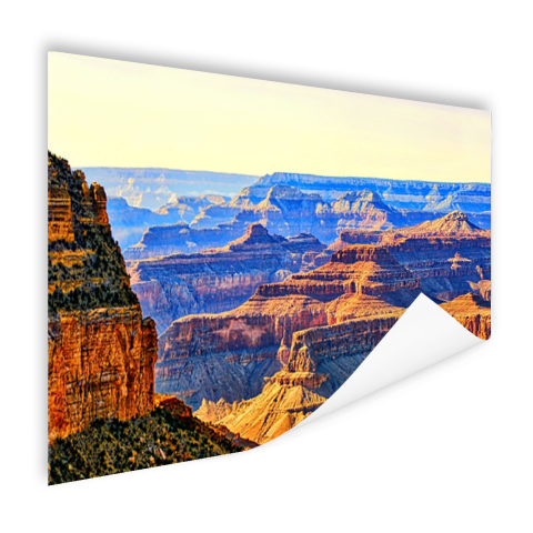 Poster foto print uitzicht over Grand Canyon