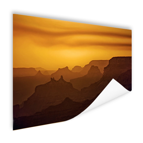Zonsondergang over Grand Canyon op poster