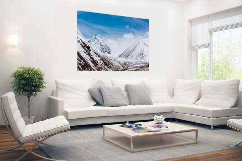 Toppen Himalaya in winter Poster