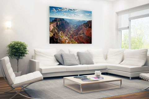 Grand Canyon Cape Royal fotoprint Glas