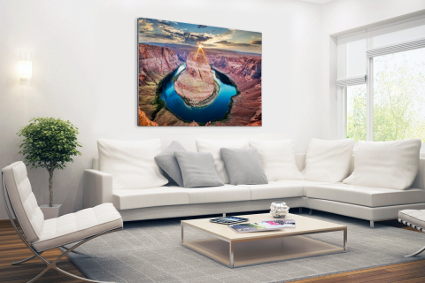 Horseshoe Bend Grand Canyon fotoprint Aluminium