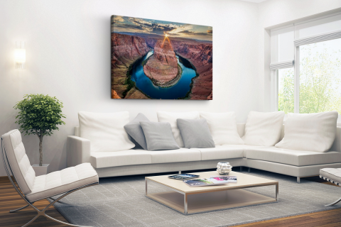Horseshoe Bend Grand Canyon fotoprint Canvas